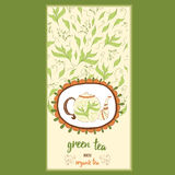 Hand drawn template packaging tea, label, banner, poster, identity, branding. Stock Photo