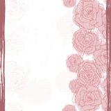 Hand drawn tender vintage  roses seamless border Stock Photos