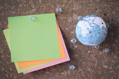 Hand drawn texture globe with blank social media diagram Royalty Free Stock Images