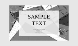 Hand drawn textured background. Black and white textured cards. Beautiful abstract poster. Hand drawn textured background. Black and white textured cards stock illustration