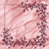Hand drawn textured floral background. Vintage card with roses and leaves Royalty Free Stock Image