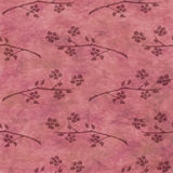 Hand drawn textured floral background.Vintage red template with branch with flowers and leaves. Royalty Free Stock Image