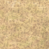 Hand drawn textured floral background. Vintage template with little flowers, leaves, insect, and fruits. Royalty Free Stock Photography