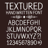 Hand drawn textured  font Stock Photography