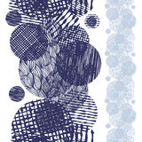 Hand drawn textured grunge style seamless pattern Stock Image