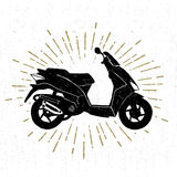 Hand drawn textured icon with scooter vector illustration Royalty Free Stock Image