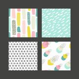 Collections of colorful seamless pattern. Hand Drawn textures made with ink. Isolated. Vector Illustration. Pastel hand drawn texture Stock Photo