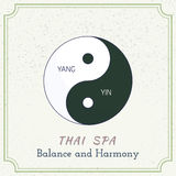 Hand Drawn Thai Massage And Spa Design Elements. Stock Photography