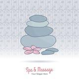 Hand Drawn Thai Massage And Spa Design Elements. Stock Photos