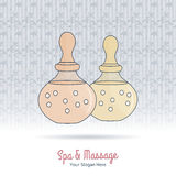 Hand drawn Thai massage and spa design elements. Stock Images