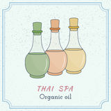Hand drawn Thai massage and spa design elements. Royalty Free Stock Image