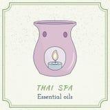 Hand drawn Thai massage and spa design elements. Stock Photo