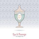 Hand drawn Thai massage and spa design elements. Stock Image