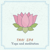 Hand drawn Thai massage and spa design elements. Royalty Free Stock Photo