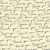 Hand-drawn Thank you seamless pattern. Vector Stock Photography