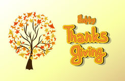 Hand drawn Thanksgiving card. Royalty Free Stock Images