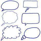 Hand drawn thought bubbles. Royalty Free Stock Photography