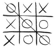 Hand-drawn tic-tac-toe game Stock Image