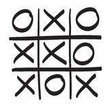 Hand drawn tic tac toe vector scribble icon symbol illustration. Black lines Stock Photography