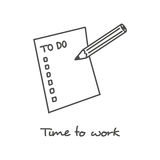 Hand drawn To do list icon Stock Images
