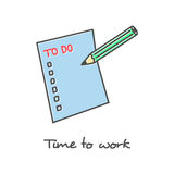 Hand drawn To do list icon Stock Photos