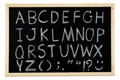 Hand drawn A to Z alphabet blackboard Stock Photo