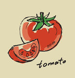 Hand drawn tomato Stock Photos