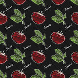 Hand drawn tomato pattern. Royalty Free Stock Photos