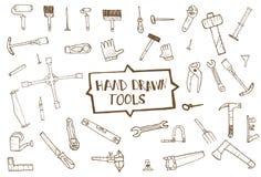 Hand drawn tool icons set,  Stock Image