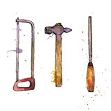 Hand drawn tool kit Royalty Free Stock Images