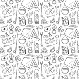 Hand Drawn Tourism Pattern. Doodle Illustration Royalty Free Stock Images