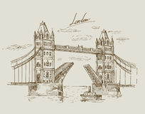 Hand drawn Tower Bridge Royalty Free Stock Photo
