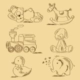 Hand drawn toys Royalty Free Stock Image