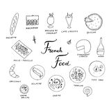 Hand drawn traditional french cuisine menu. Royalty Free Stock Photo