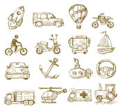 Hand drawn transport Stock Image