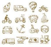 Hand drawn transport Stock Image