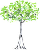 Hand drawn tree Stock Photography