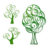 Hand drawn trees 3 Royalty Free Stock Photo