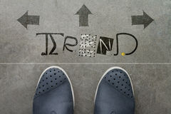 Hand drawn TREND design word Stock Images