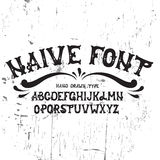Hand drawn trendy font. vector illustration