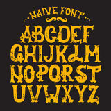 Hand drawn trendy font. Custom handwritten alphabet. Original Letters. Vintage retro hand drawn typeface . Vector illustration Royalty Free Stock Photos