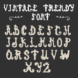 Hand drawn trendy font. Vector vintage alphabet Royalty Free Stock Photos