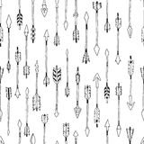 Hand drawn tribal background Royalty Free Stock Images