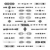 Hand drawn tribal collection with stroke, line, arrow Royalty Free Stock Photography