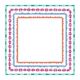 Hand drawn tribal frames. Vector graphic set of hand drawn tribal square frames. Beautiful ethnic design elements Royalty Free Stock Image