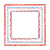 Hand drawn tribal frames. Vector graphic set of hand drawn tribal square frames. Beautiful ethnic design elements Stock Photography