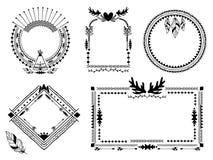 Hand drawn tribal frames Stock Image