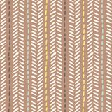 Hand drawn tribal herringbone stitches on brown background vector seamless pattern. Fresh geometric drawing vector illustration