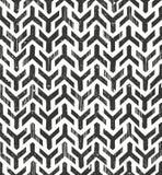 Hand drawn  tribal monochrome pattern.  Royalty Free Stock Photography