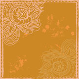 Hand drawn tribal oriental frame Stock Image